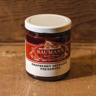 Raspberry Seedless Preserves Jam at Bauman