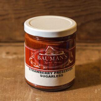 Strawberry Preserves Sugarless Jam at Bauman