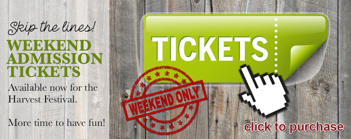 Weekend Admission Tickets - Harvest Festival