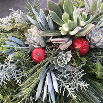 Succulent Evergreen Centerpieces