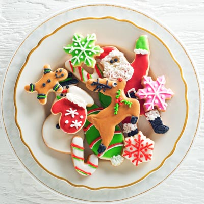 Plate of cookies for Santa