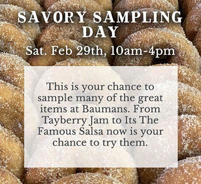 Savory Sampling Day