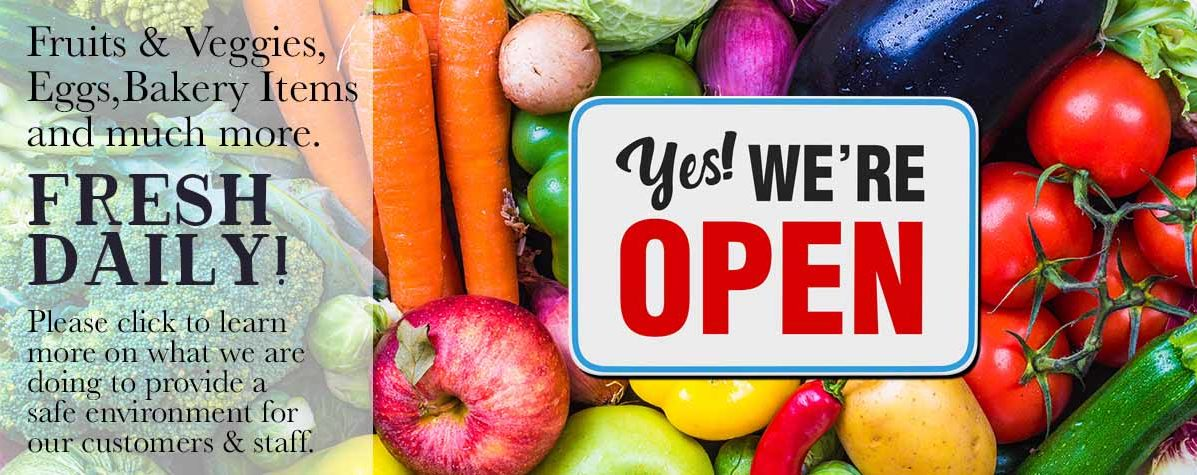 Fresh Daily - Yes We Are Open