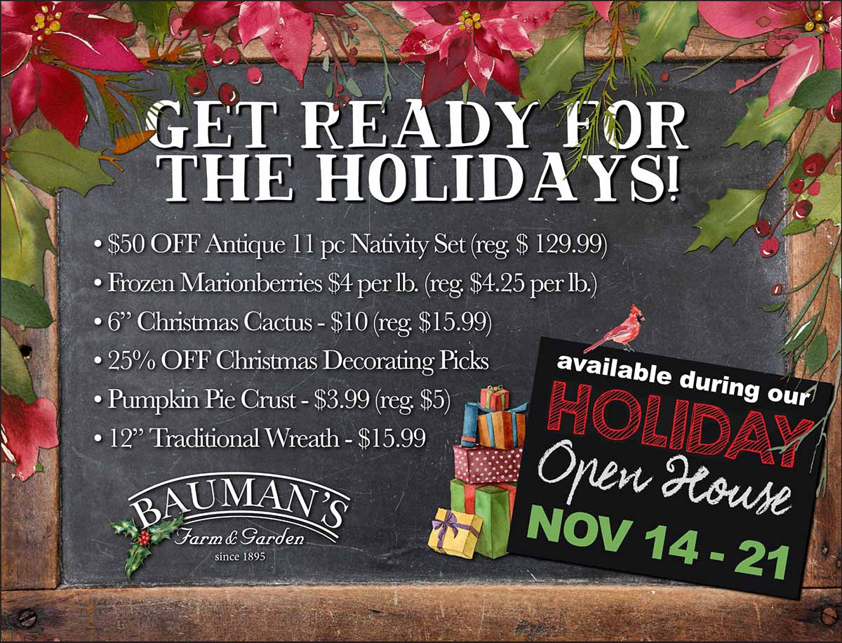 Bauman's Holiday Open House