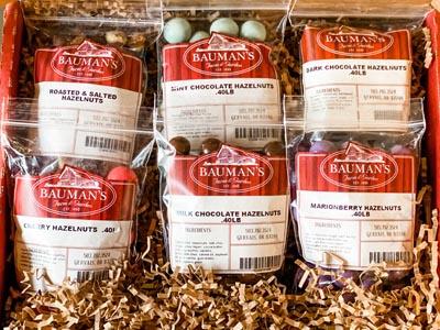 Bauman Hazelnut Assortment Gift Packs